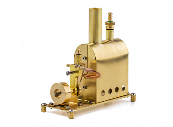 Live steam boiler and oscillating steam engine