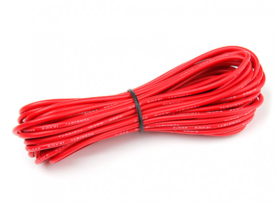 Turnigy High Quality 16AWG Silicone Wire 7m (Red)