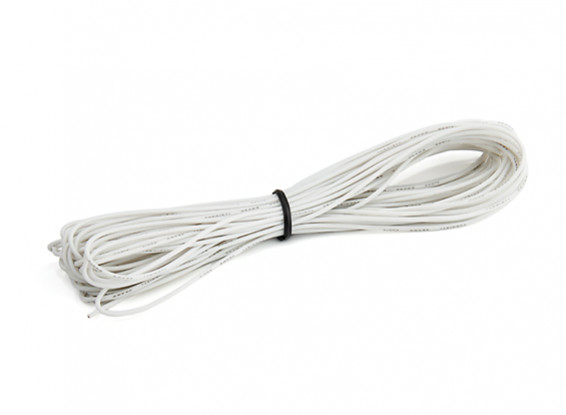 Turnigy High Quality 26AWG Silicone Wire 10m (White)