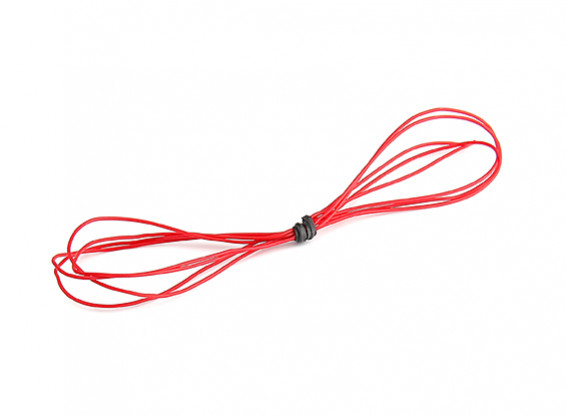 Turnigy High Quality 30AWG Silicone Wire 1m (Red)