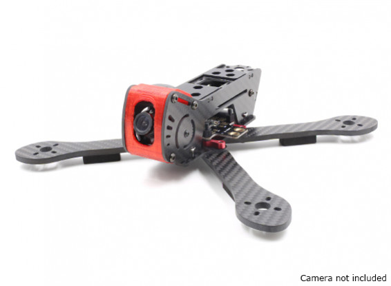 GEP-AX5 Airbus FPV Racing Drone Frame 215 (Red) (Kit) - Side