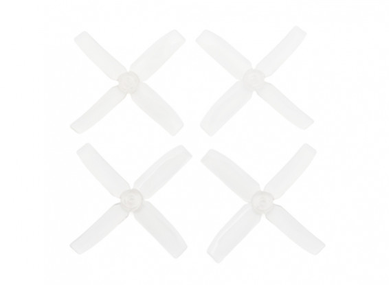 Dalprop Q4040 Bull Nose 4 Blade Propellers CW/CCW Set Crystal White (2 pairs)