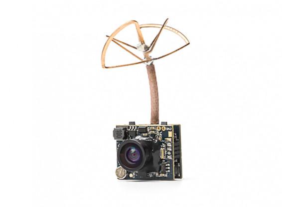 Adjustable Power 25mW / 200mW 5 8GHz 48CH NTSC/PAL Mini VTX FPV Camera  Combo (Cloverleaf Antenna)
