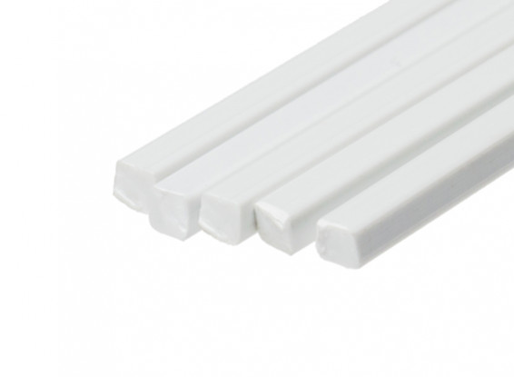ABS Square Rod 4 0mm x 4 0mm x 500mm White (Qty 5)
