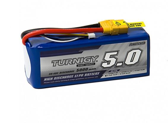Turnigy 5000mAh 5S 30C Lipo Pack w/XT-90