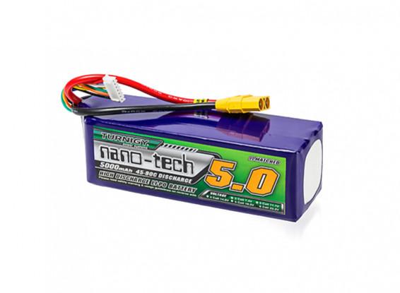 Turnigy nano-tech 5000mah 6S 45~90C Lipo Pack w/XT-90