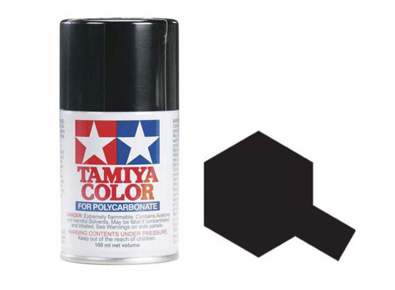 Tamiya Color Paints for Polycarbonate PS-5 Black Spray Paint (100ml)