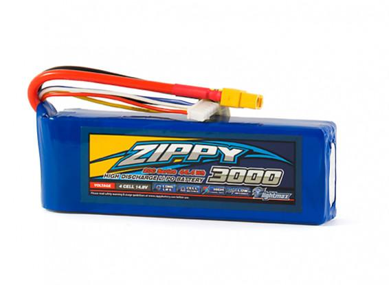 ZIPPY Flightmax 3000mAh 4S1P 20C LiPo Pack w/XT60