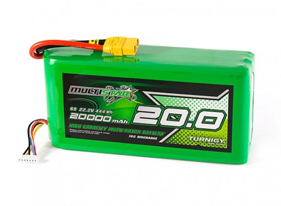 Multistar High Capacity 20000mAh 6S 10C Multi-Rotor Lipo Pack w/XT90