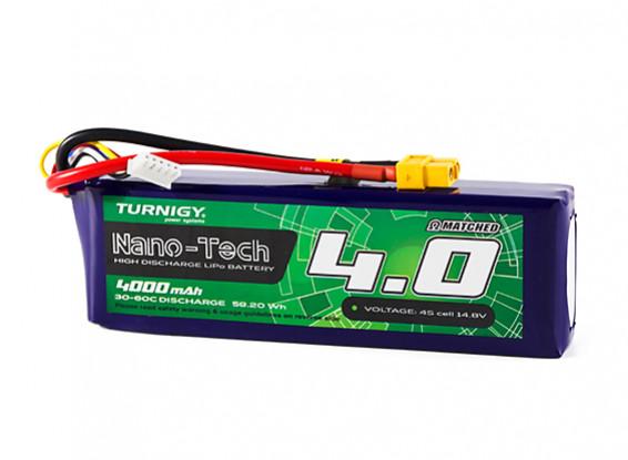 Turnigy Nano-Tech 4000mAh 4S 30C Lipo Pack w/XT60