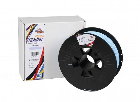 Pastel Blue PLA Premium 3D Printer Filament 1.75mm 1kg Spool