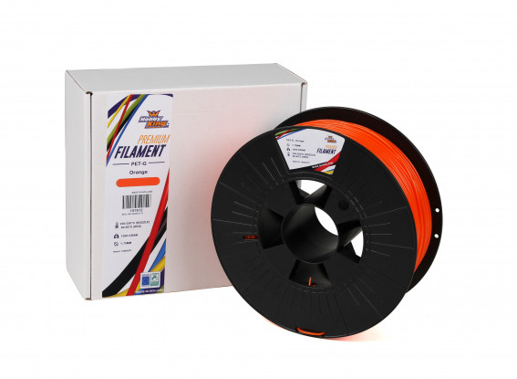 Orange PETG Premium 3D Printer Filament 1.75mm 1kg Spool