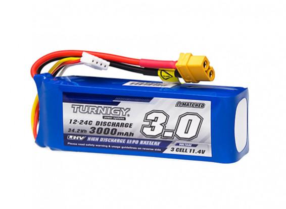 Turnigy High Capacity 3000mAh 3S 12C LiHV Pack w/XT60