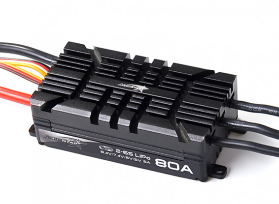 AeroStar WiFi 80A Brushless ESC with 5A BEC (2~6S)