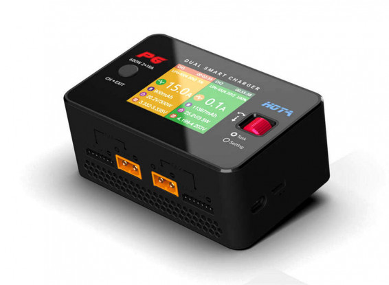 HOTA P6 2 x 300W 1~6S Dual Smart Charger/Discharger (DC Only)