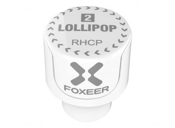 Foxeer Lollipop 2 Stubby 5.8GHz Omni Antenna (White) (RHCP) (2pcs)