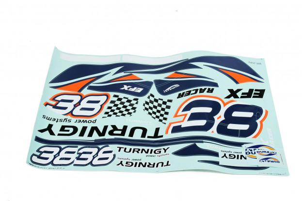 Durafly EFX Racer - Replacement Sticker Set (Orange)