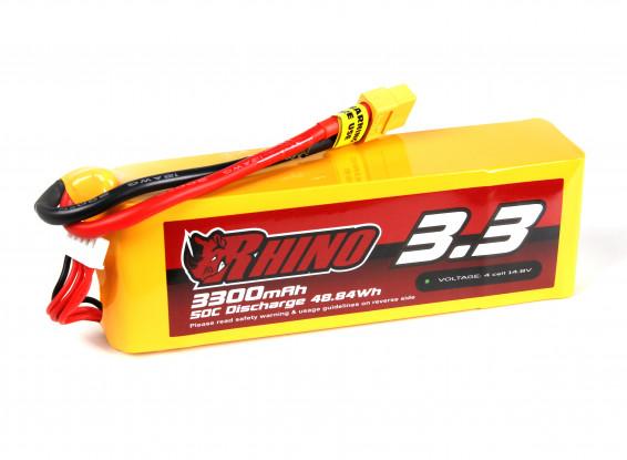 Rhino 3300mAh 4S 50C Lipo Pack w/XT60