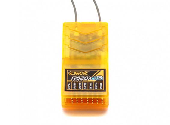 OrangeRx R620X V3 6Ch 2.4GHz DSM2/DSMX Compatible Full Range Receiver w/Div Ant, F/Safe & CPPM 1