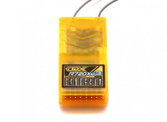 OrangeRx R720X V3 7Ch 2.4GHz DSM2/DSMX Compatible Full Range Receiver w/Div Ant, F/Safe & CPPM 1
