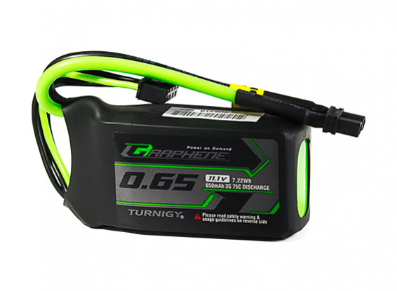 Turnigy Graphene Panther 650mAh 3S 75C Battery Pack w/XT30