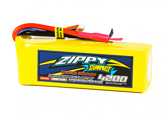 ZIPPY Compact 4200mAh 4S2P 30C LiFePo4 Pack