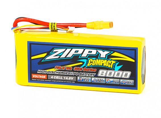 ZIPPY Compact 8000mAh 4S1P 30C Lipo Pack w/XT90