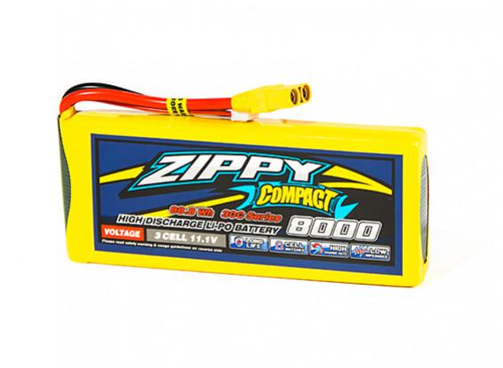 ZIPPY Compact 8000mAh 3S1P 30C Lipo Pack w/XT90
