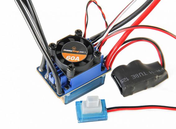 HobbyKing™ 60A 2~3S Waterproof Brushless Car ESC w/Reverse & 2A BEC 1