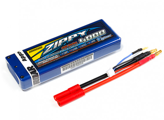 ZIPPY 4000mAh 2S1P 25C Car Lipoly Hardcase (ROAR APPROVED)