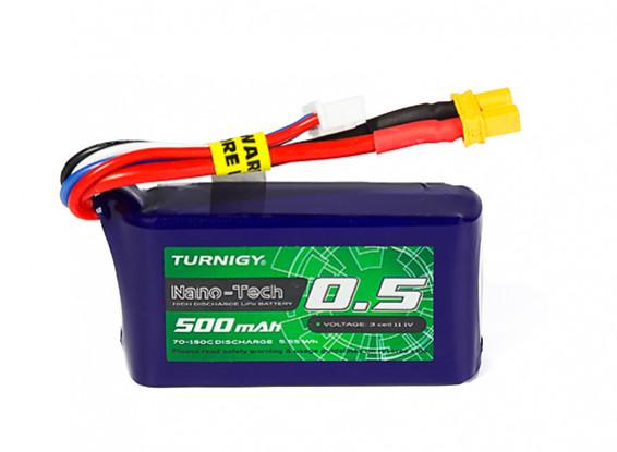 Turnigy Nano-Tech Plus 500mAh 3S 70C Lipo Pack w/XT30