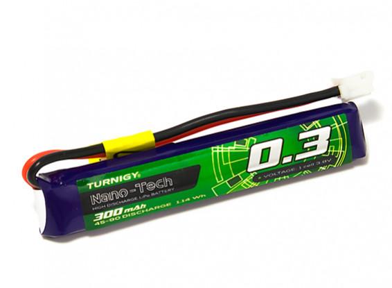 Turnigy Nano-Tech 300mAh 1S 45C Lipo Pack w/JST-PH