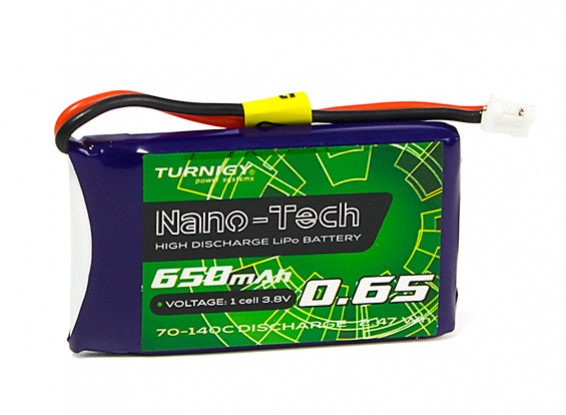 Turnigy Nano-Tech Plus 650mAh 1S 70C Lipo Pack w/JST-PH