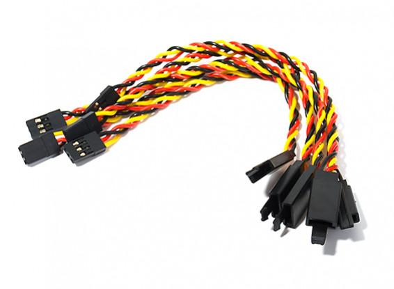 150mm Twisted Servo Lead Extension (JR) with Hook 22AWG (5pcs/bag)