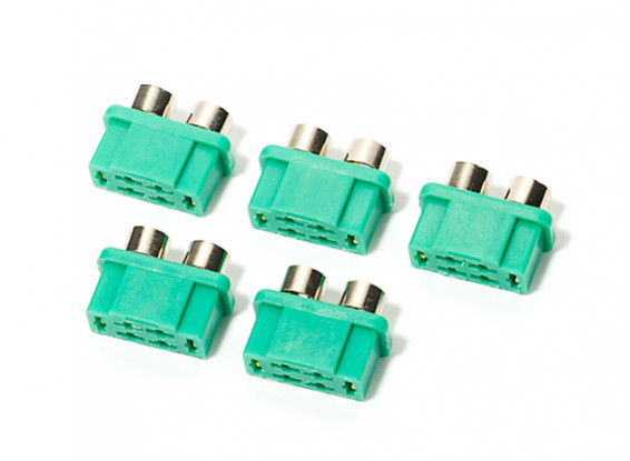 MPX Connector with Silver Ring, Female (5pcs/bag)