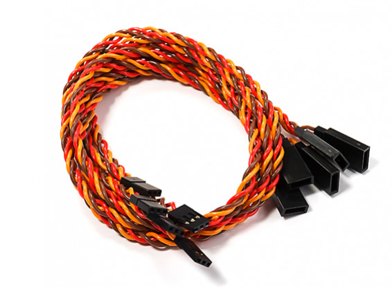 450mm Twisted Servo Lead Extension (JR) 22AWG (5pcs/bag)