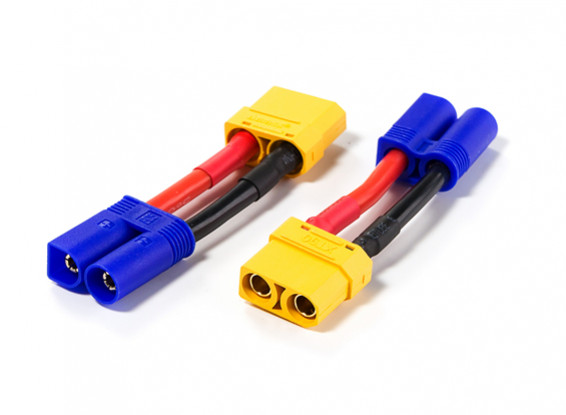 XT90 Female to EC5 Male 30mm Adapter (2pcs)