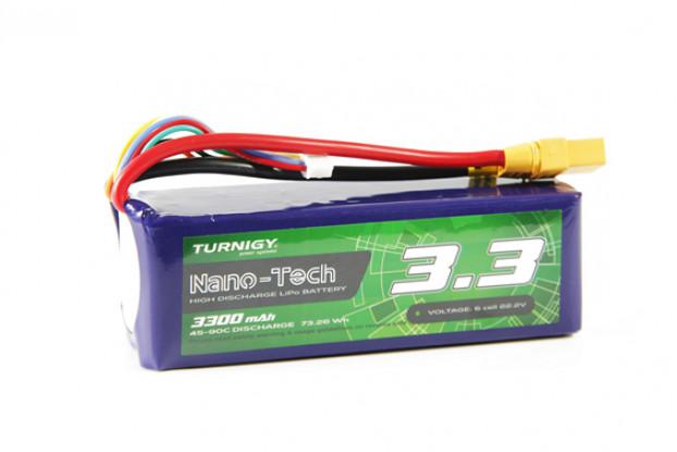 Turnigy Nano-Tech 3300mAh 6S 35C Lipo Pack w/XT90