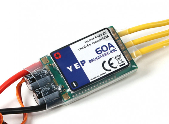 YEP 60A (2~6S) SBEC Brushless Speed Controller