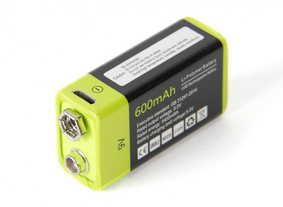 Znter 9V 600mAh USB Rechargeable LiPoly Battery (1pc) 1