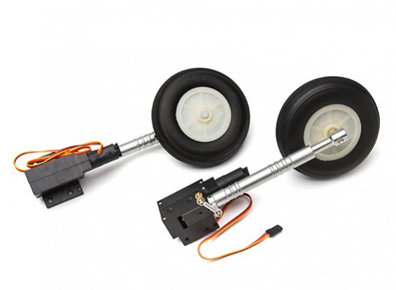Turnigy Full Metal Servoless 90 Degree Twist n Turn Retracts/leg's/wheels 1.20 size (P-40)