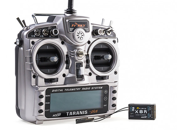 FrSky 2 4GHz ACCST TARANIS X9D PLUS and X8R Combo Digital Telemetry Radio  System (Mode 2)