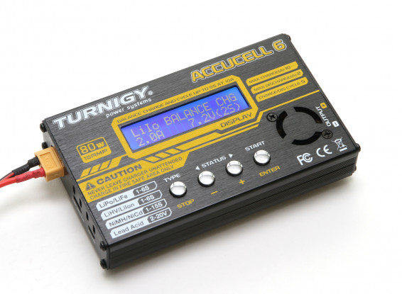 Turnigy Accucel-6 80W 10A 1~6S Balancer/Charger (Suitable for LiHV)
