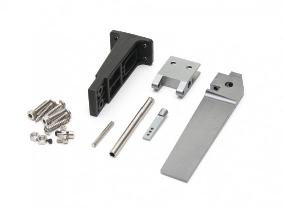 HydroPro Inception Brushless RTR Deep Vee Racing Boat Replacement CNC Aluminum Rudder Assembly w/Plastic Mounting Bracket