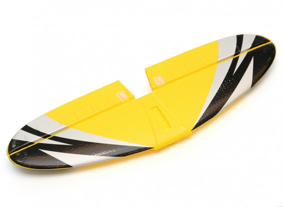 Durafly Goblin Racer 820mm Replacement Tailplane and Elevator Yellow/Black/Silver