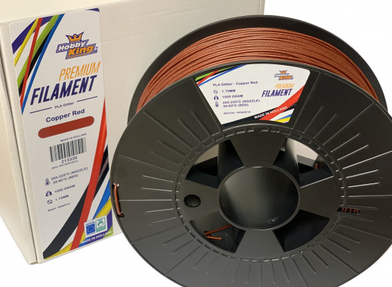 PLA Premium Copper Red Glitter 500g 1.75mm HobbyKing