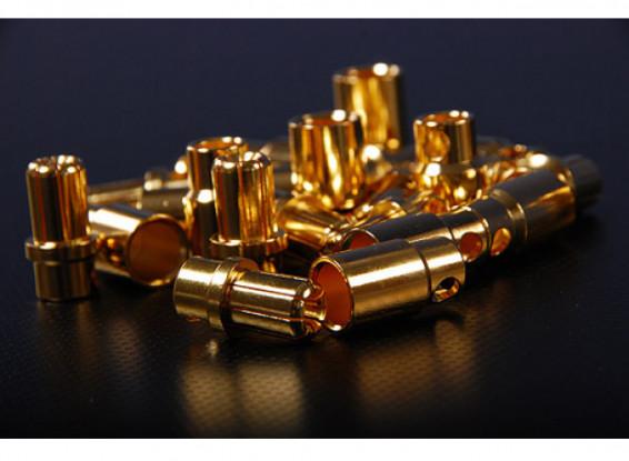 8mm Gold Bullet Connectors (12 pack)