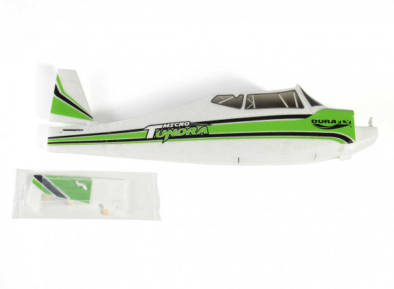 Durafly-Micro-Tundra-Classic-Green-Replacement-Fuselage-Battery Hatch-and-Rudder-9898000016-0