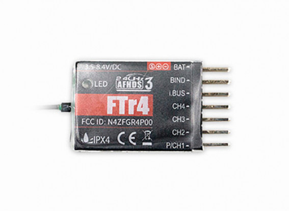 FlySky-FTr4-2-4GHz 4CH-AFHDS-RC-Receiver-Support-PWMPPMI-busS-bus-Output-Compatible-NB4-PL18-for-RC-Drone-Fixed-Wings-Gliders-9114000094-0-1