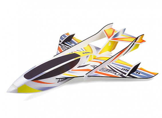 H-King-Arctic-Cat-Kit-Water-Plane-Glue-N-Go-Foamboard-Yellow-820mm-Plane-9700000017-0-1